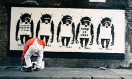 First Pictures Of Banksy Creating New Artwork Have Been Unveiled