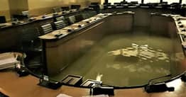 Council Room Floods Immediately After Members Reject Climate Change Measures
