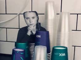 Offices Put Up Photos Of Greta Thunberg To Deter Staff From Using Plastic