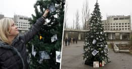 Christmas Tree Put Up In Chernobyl For First Time Since 1986 Disaster