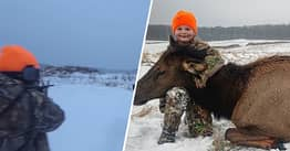 Girl, 8, Becomes Youngest Person In Michigan To Hunt An Elk