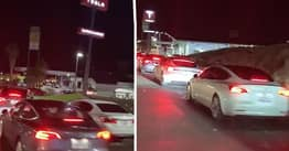 Tesla Drivers Stranded In Half-Mile-Long Queue To Charge Cars
