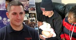 Rookie Firefighter Delivers Baby On His First Day, On His Very First Call