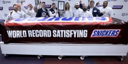 World's Largest Snickers Bar Unveiled In Texas