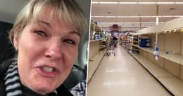 Nurse Breaks Down In Tears At Empty Supermarket Shelves After '48-Hour Shift'