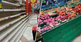 Photos From Shops In Barcelona Prove Why We Don't Need To Panic Buy Food During Coronavirus Isolation