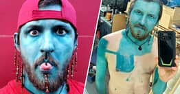 Ontario Man Tattooing His Entire Body Blue Says It's 'Re-Energised' His Mental Health