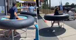 Restaurant Uses 'Bumper Tables' To Make Social Distancing Fun