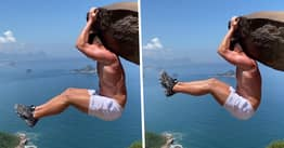 Guy Tricks Instagram Followers With Daredevil Cliff Stunt That's Actually An Optical Illusion In Brazil