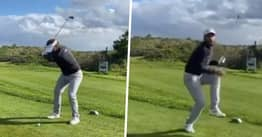 Golfer's Social Distancing Trick Shot Goes Wrong And 'Almost Kills' Girlfriend