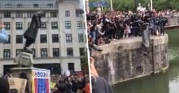 Bristol Black Lives Matter Protesters Throw Slave Trader Statue Into Harbour After Pulling It Down