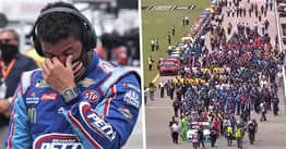 NASCAR Drivers Join Together To Push Bubba Wallace's Car To Front Of Field