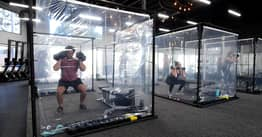 California Gym Sets Up Social Distance Pods So People Can Work Out Safely