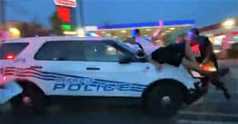 Detroit Police Officer Ploughs Into BLM Protesters In Shocking Video