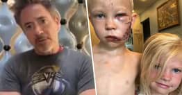 Robert Downey Jr. Sends Message To Hero Boy Who Saved Sister In Dog Attack