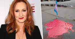 JK Rowling Tribute Defaced With Trans Pride Flag Following 'Dangerous' Comments