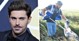 Zac Efron Helps Clean 'Plastic Waste Carpets' From River Thames In New Netflix Doc