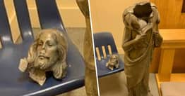 Statue Of Jesus Christ Found Beheaded In Church In Florida