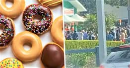 Police Patrol Krispy Kreme Stores After 'Nonsensical' Free Doughnut Promotion Attracts Huge Crowds In Australia