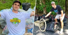 Guy Spent The Last Decade Collecting More Than 7,000 Bags Of Trash To Help Environment