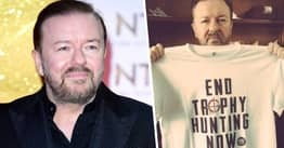 Ricky Gervais Says Trophy Hunting Is 'Humanity At Its Very Worst'