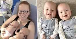 Mum Gives Birth To Twins Two Days Apart After Her Labour 'Stopped'