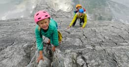 Fearless Parents Take Toddler And Daughter, 7, Climbing Up 11,000ft Mountain