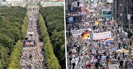 Thousands March On Berlin To Protest Coronavirus Restrictions As Cases Rise