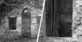 Man Captures Ghostly Face While Photographing Historic Scottish Ruins