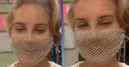 Lana Del Rey Wore A Mesh Mask And Everyone's Making The Same Joke