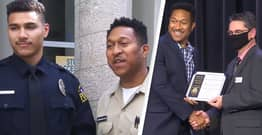 Father And Son Graduate From Police Academy At The Same Time