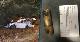 100MPH Tesla Model 3 Crash Started House Fire After Launching Hundreds Of Battery Cells Into Air