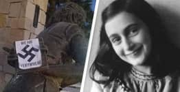 Only Anne Frank Memorial In America Defaced With Swastika Stickers