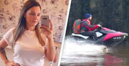 Woman Whose Jet Skiing Boyfriend Was Arrested Says He's Her Hero