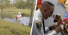 Dog Rescued From Alligator's Jaws Made An Honorary Deputy In Florida