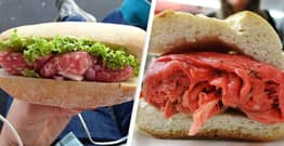 Americans Warned Against Eating Raw Meat Sandwiches Say It's 'Holiday Tradition'