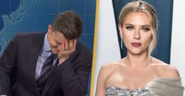 Scarlett Johansson's Husband Colin Jost Accidentally Roasts Her Casting Controversies On Saturday Night Live