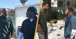 Grand Theft Auto V's Franklin And Lamar Actors Recreate Roast Scene In Real Life