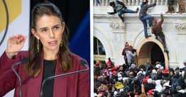 Jacinda Ardern Decries Capitol Riot, Says Democracy 'Should Never Be Undone By A Mob'