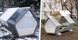 German City Installs Pods For Homeless People To Sleep In
