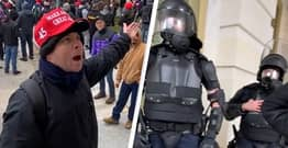 Trump Supporter Begs Cops To Intervene In US Capitol Riots In Surreal Video