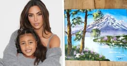 Kim Kardashian Claims North West Painted This, No One Believes Her