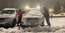 Boy, 10, And Family Friend Clean Snow Off 80 Hospital Workers' Cars During Storm