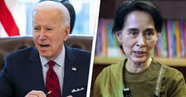 Biden Threatens US Sanctions On Myanmar In Wake Of Military Coup
