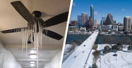 Frozen Ceiling Fan Photo Shows Brutal Reality Of American Cold Snap