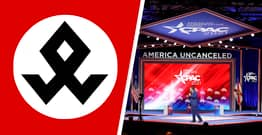 CPAC Stage Design Compared To Symbol Used By Nazi Unit