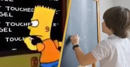 Guy Recreates Entire Simpsons Intro Using Only Stock Footage