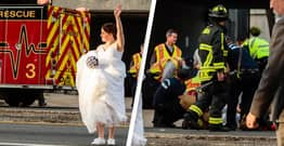 Newlywed Sheriff's Deputies Pause Wedding Photos To Help Man Struck By Car