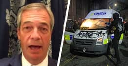 Nigel Farage Tries To Blame Kill The Bill Protests On BLM, Immediately Shut Down