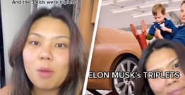 TikToker Details Weekend She Once Spent Baby-Sitting Elon Musk's Triplets Without Knowing